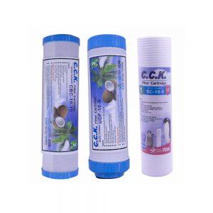 فیلتر دستگاه تصفیه آب خانگی سی سی کا مدل OK-Filter Pack بسته ۳ عددی
