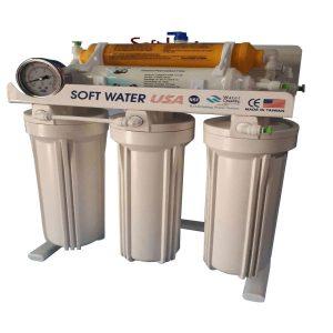 دستگاه تصفیه کننده آب خانگی سافت واتر مدل NSF