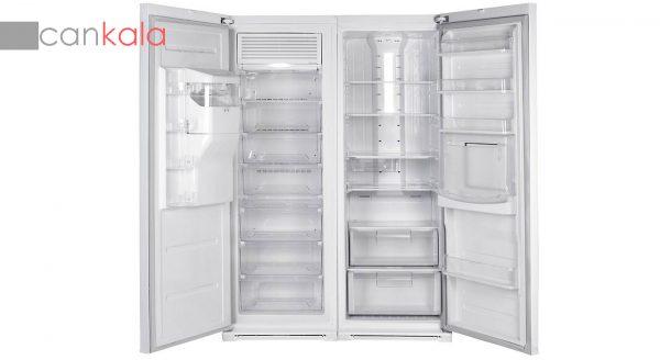 یخچال و فریزر هیمالیا مدل بتا سفید چرمی نوفراست هوم بار یخساز