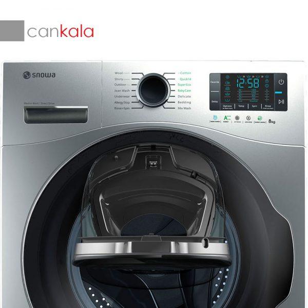ماشین لباسشویی Wash in Wash اسنوا مدل SWM-84607 ظرفیت ۸ کیلوگرم